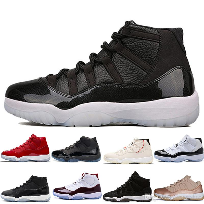 new product 8c141 a91f8 2019 New 11 Space Jams Bred Number 45 Best New Concord Basketball Shoes Men  Women shoes 11s Gym Red Navy Gamma Blue 72-10 Sneakers designer
