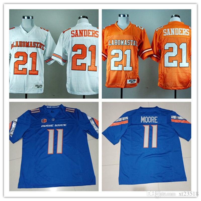 8b74168e422 2019 Mens NCAA #21 Barry Sanders Oklahoma State Cowboys Jersey Stitched #11  Kellen Moore Boise State Bronco Football Jersey S 3XL From Xt23518, ...
