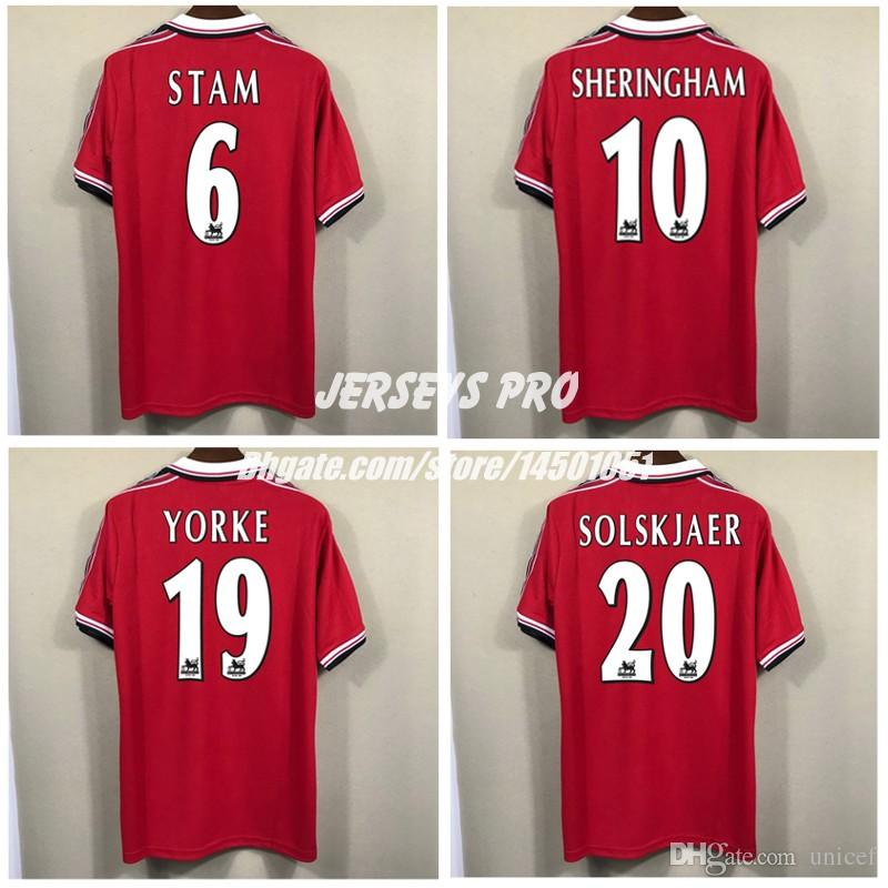 876bfebe2 2019 Top Thai Quality 1998 1999 Ole Gunnar Solskjaer Soccer Jersey Old  Trafford Football Shrts Jaap Stam Andy Cole Teddy Sheringham Dwight Yorke  From Unicef ...
