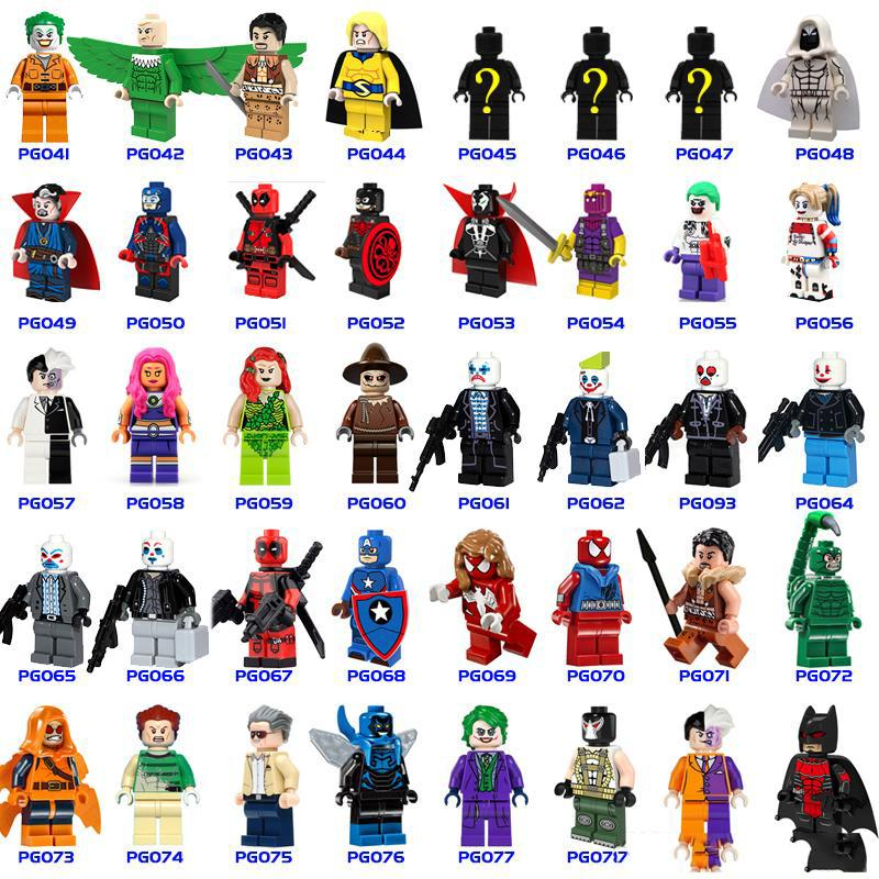 700+ Building Blocks Super Hero Figures Toys The Avengers Toys Joker Toys mini Action Figures Bricks minifig Christmas gifts