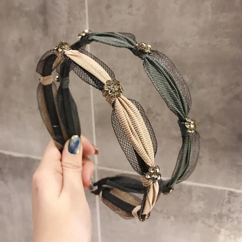 High-end Ladies Hair Hoop Delicate Girl Lace Hair Accessory Simple Style Knotted Hair Band Fashion Brand Woman Headband