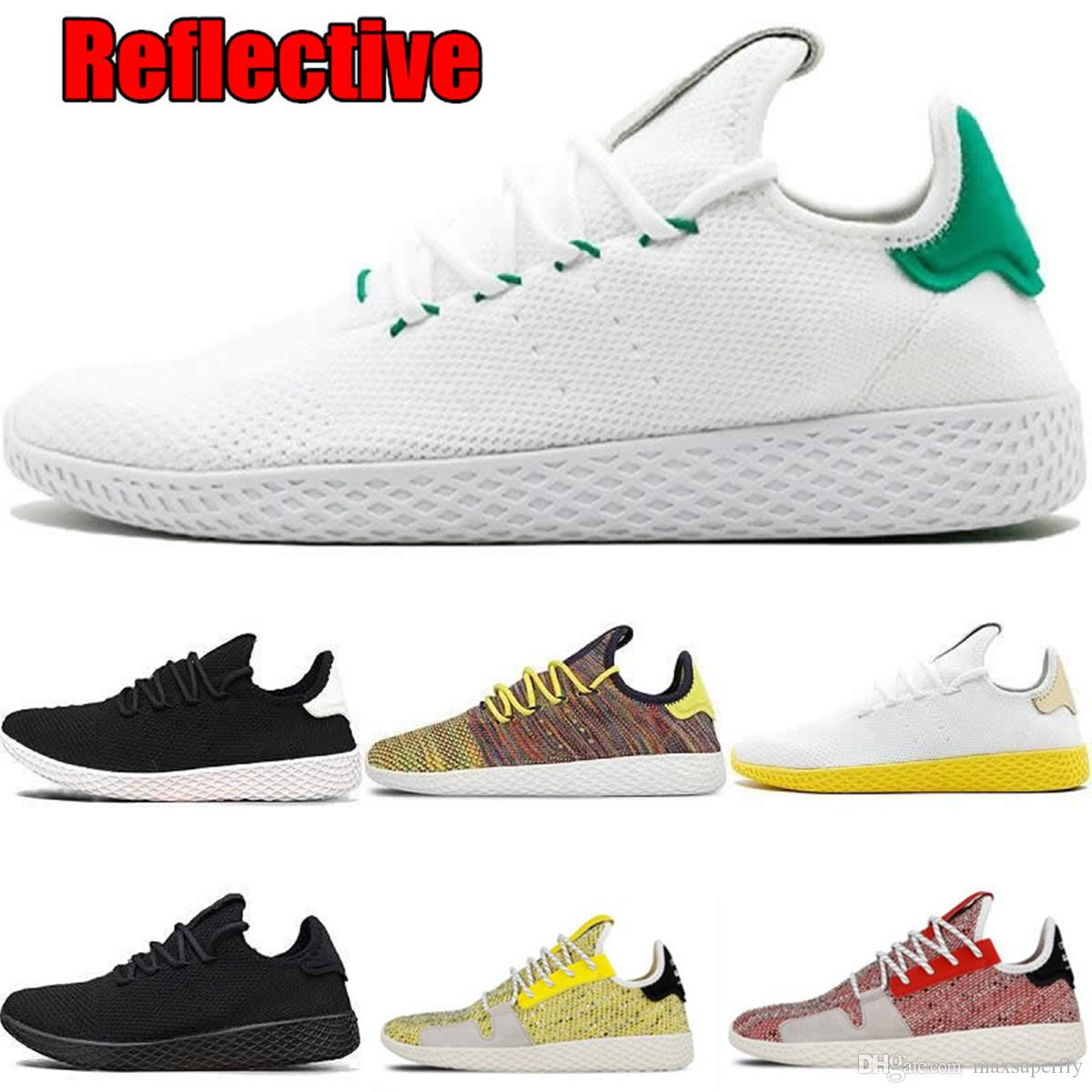 new concept 33d14 856b0 Summer Reflective Static PW Pharrell Williams X Stan Smith Tennis Hu  Primeknit Upper Men Women Breathable Jogging Running Shoes EUR 36 45 Trail Shoes  Shoes ...