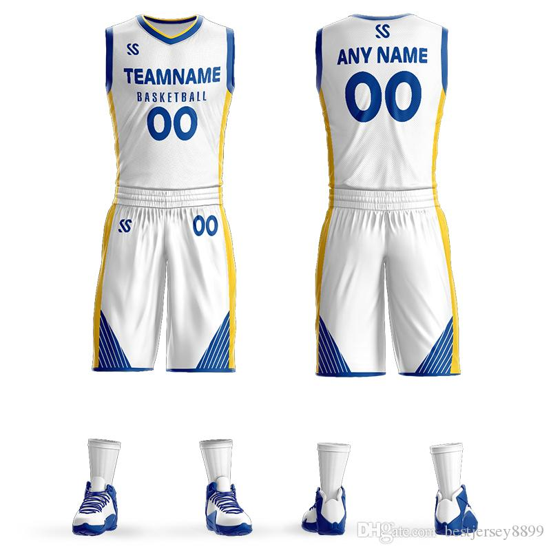 Custom Mens Basketball Jersey Sets DIY Uniformes Kits Niños Ropa Deportiva Dwyane Wade Whiteside Transpirable Personalizado Equipo Universitario