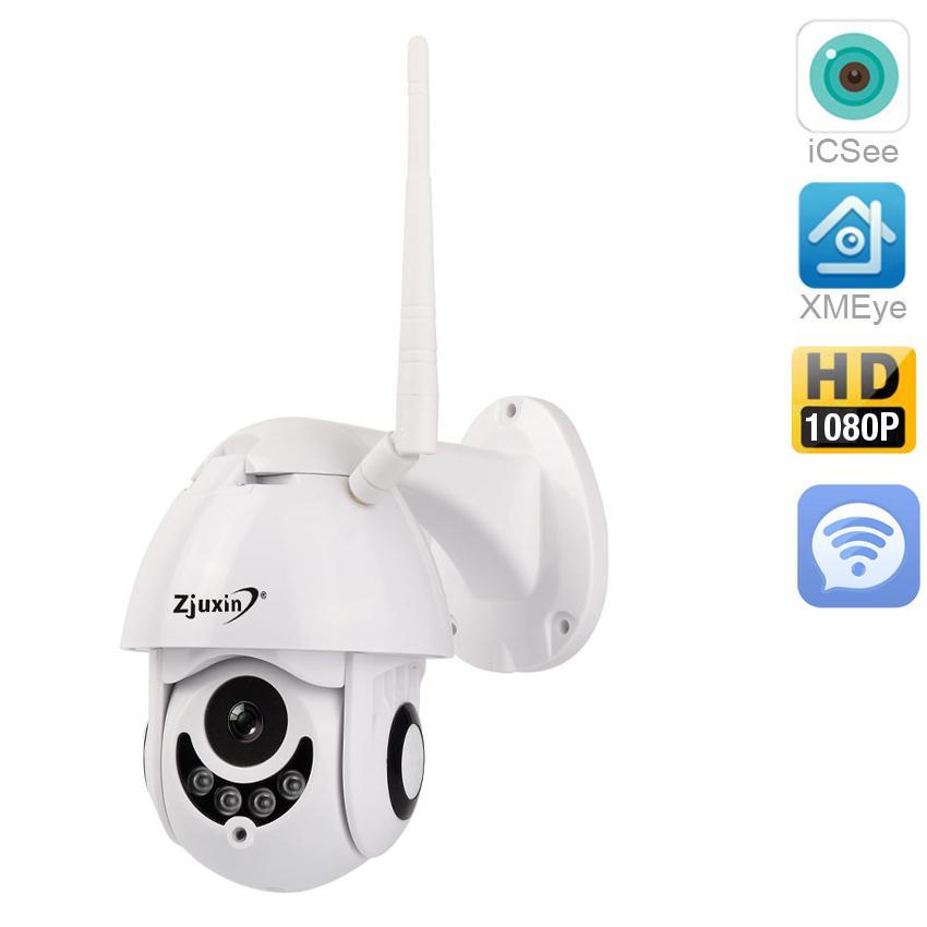 Compre Zjuxin Cámara WIFI PTZ Para Exteriores Cámara IP 1080p Cúpula De  Velocidad CCTV Cámaras De Seguridad IP WIFI Exterior 2MP IR Vigilancia En  El Hogar A ... 2f955cbbf9