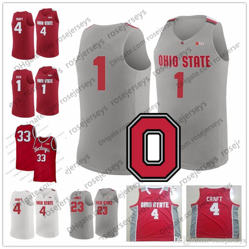 807cc5e492a 2019 NCAA Ohio State Buckeyes #1 Luther Muhammad 4 Duane Washington Jr. 32  Keyshawn Woods 23 Jaedon LeDee 2019 Retro Red White Gray Jerseys From  Rosejerseys ...