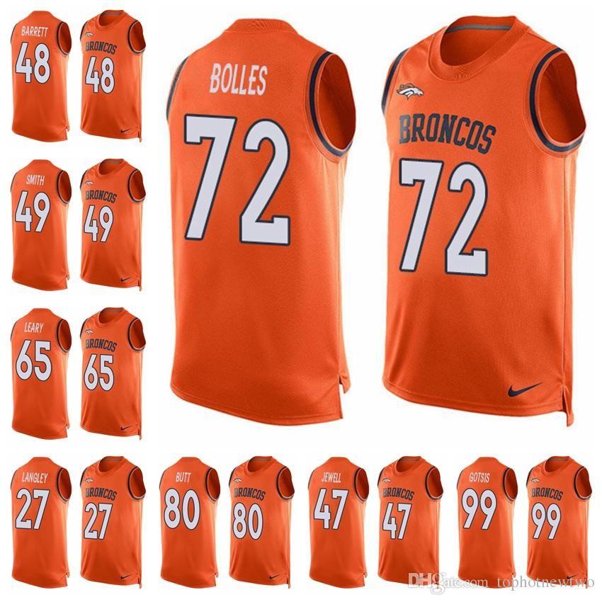 99 Elway Jerseys Top Denver 10 7 Emmanuel Orange Sanders Von 18 Football Manning John Broncos Tank Miller 58 Peyton