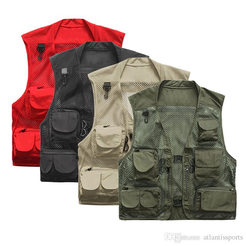 With Vest Warm Quick Tactical Camping Men Waistcoats Fishing Pocket Outdoor Ultralight Multi Drying Mesh zpSUMV