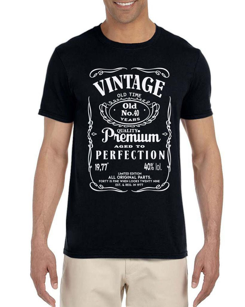 40th Birthday Gift For Men Vintage Classic Tshirt 1976 2018 Funny Tee Cute T Shirts Man 100 Cotton Cool Offensive Ringer From