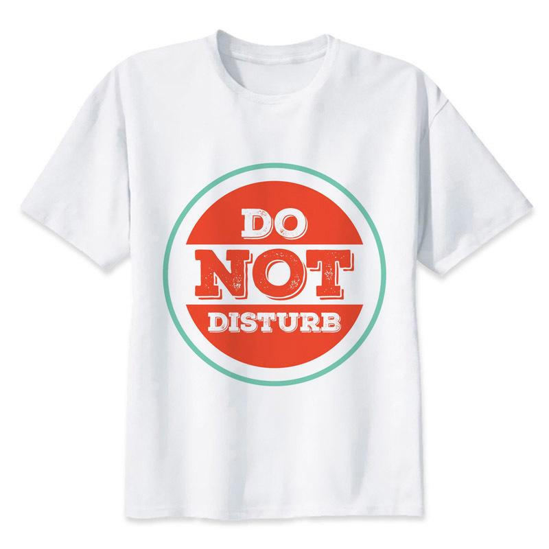 1a0e15cbe Do Not Disturb T Shirt Men Summer T Shirt Boy Print Tshirt Anime T Shirt  Brand Clothing White Color Tops Tees Mrr368 Funny Clever T Shirts Best  Sites For T ...