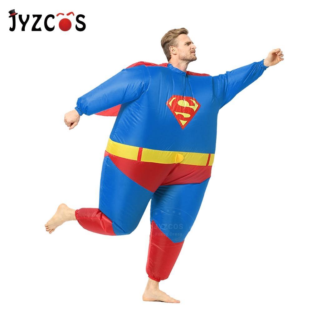 27399ba98e2f29 Zubehör Cosplay Kostüme JYZCOS Erwachsene Aufblasbare Superman Kostüm  Halloween Kostüme für Männer Superheld Cosplay Kostüm Fantasie ...