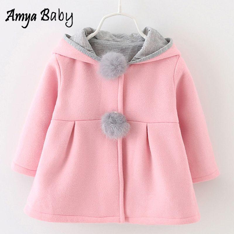 4c78cc93c AmyaBaby Chaquetas infantiles de dibujos animados con capucha Otoño  Invierno Niña Ropa de abrigo Ropa de niños Abrigos y chaquetas de niña 2019