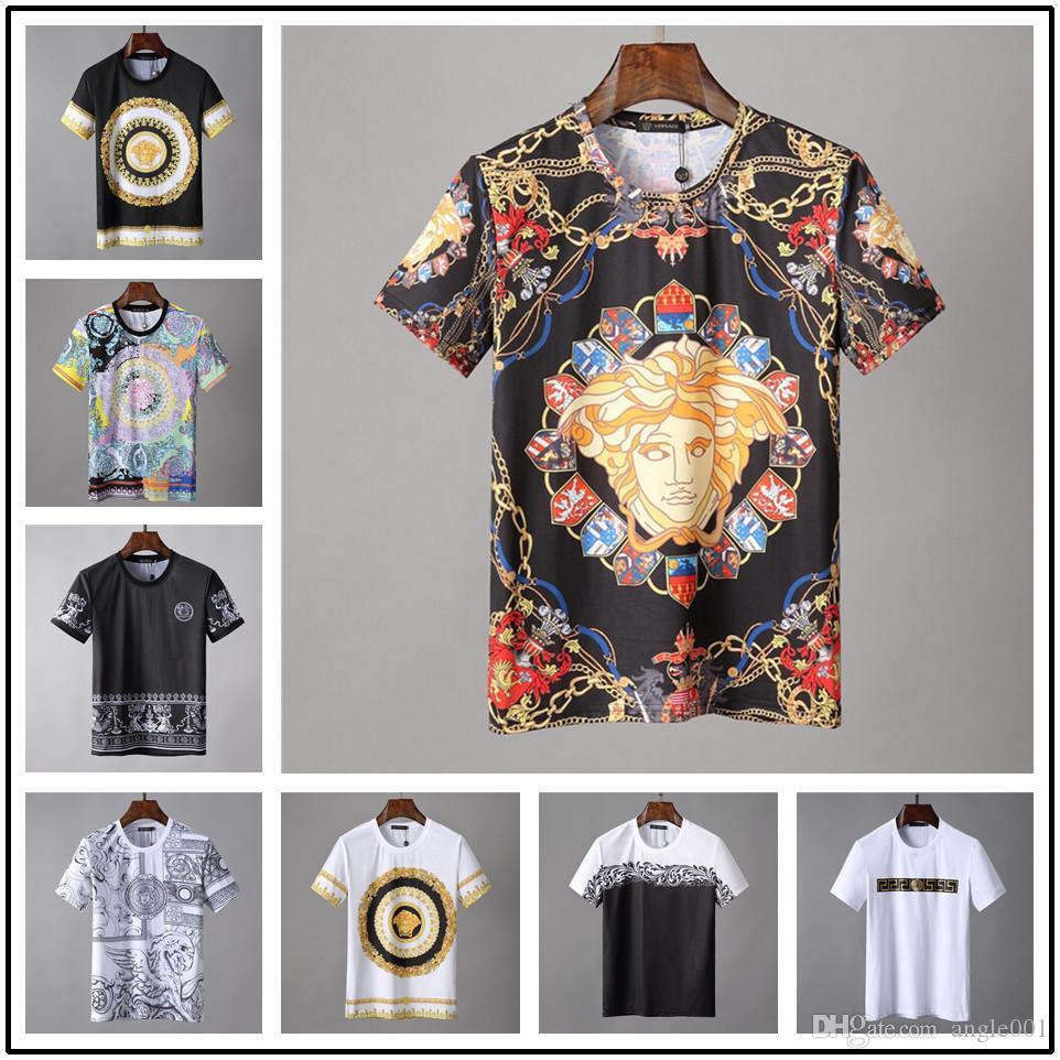2019 summer brand t shirt new vsas signature t shirt high quality fashion  men s jacket 100% cotton breathable sport t shirt 18ss