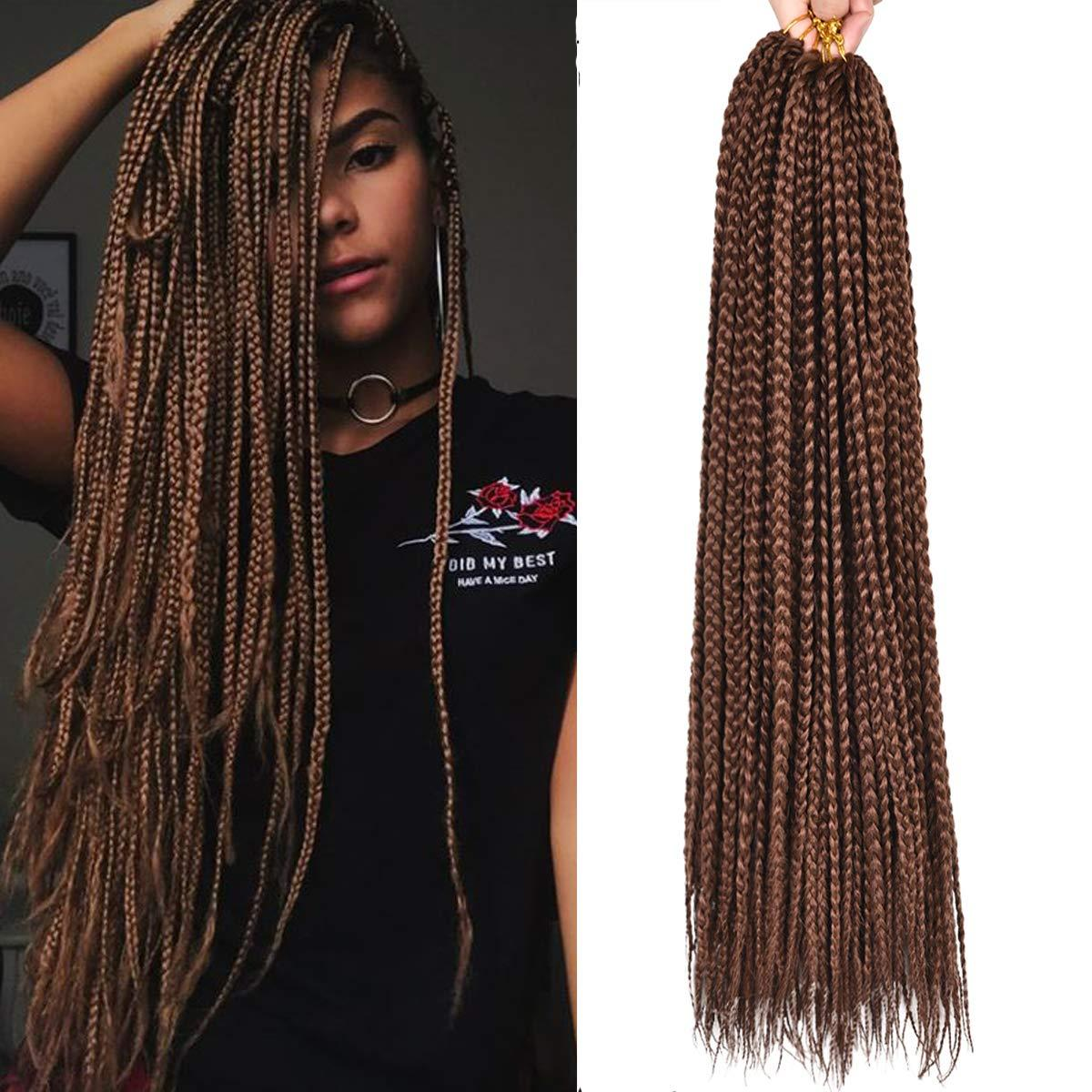2019 22inches Box Braid Crochet Braids Hair Extensions Ombre