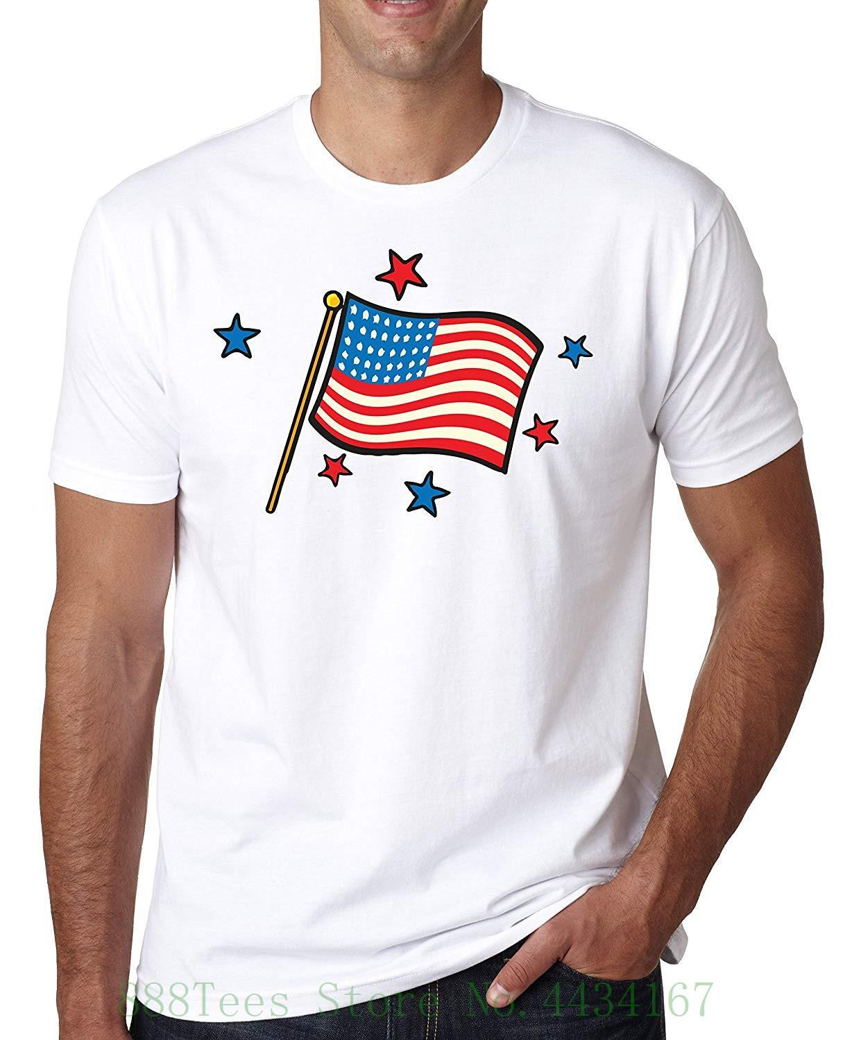 264661d9d Shut Up Usa Flag Stars Old School Tattoo Collection Vintage Colors Men's T  shirt Tops Cool T Shirt