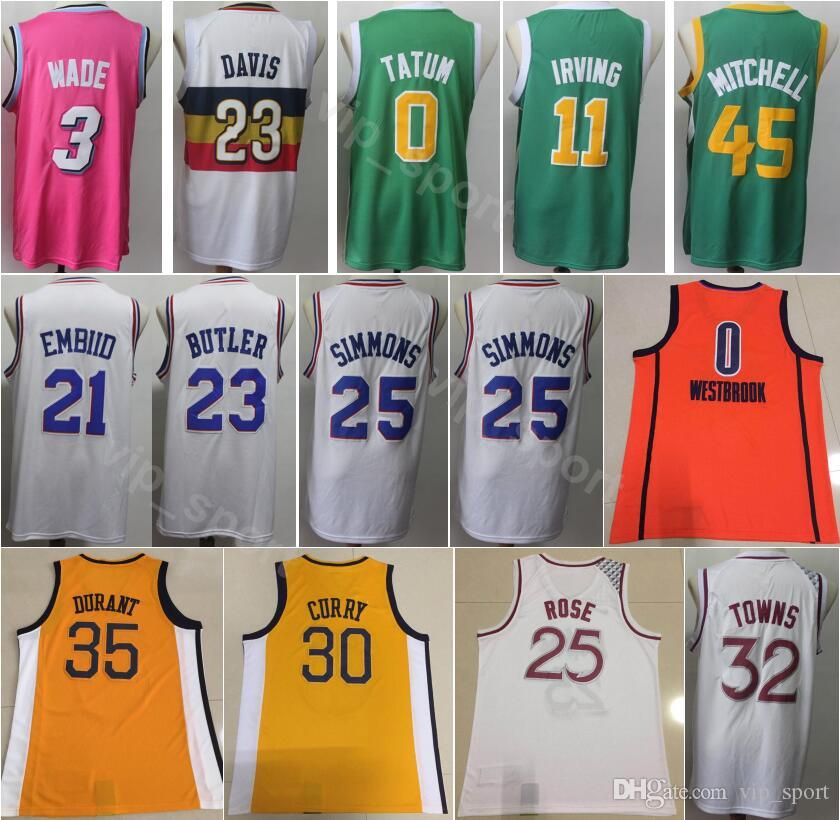 finest selection bf4b1 00d7f Men Earned Edition 3 Dwyane Wade Jersey Basketball 23 Anthony Davis 25  Derrick Rose 32 Karl Anthony Towns 45 Donovan Mitchell Kevin Durant