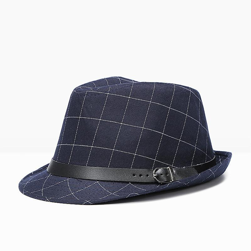 7499ae3c3bd 2018 Brand New Fashion Lattice Cotton Men Large Brim Cap Winter Fall  Fedoras Floppy Male Jazz Hat Vintage Popular Panama Caps D19011102 Scrub Hats  Mens Hat ...
