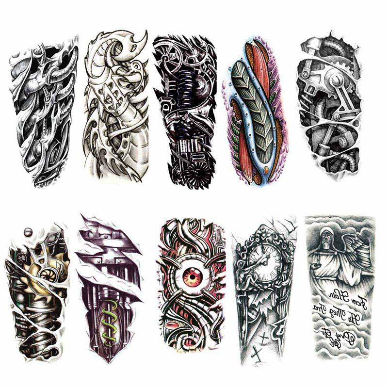 Tattoo Designs Braso: 1 Unid Negro 3D Sexy Transferencia Falsa Tatuaje Pecho