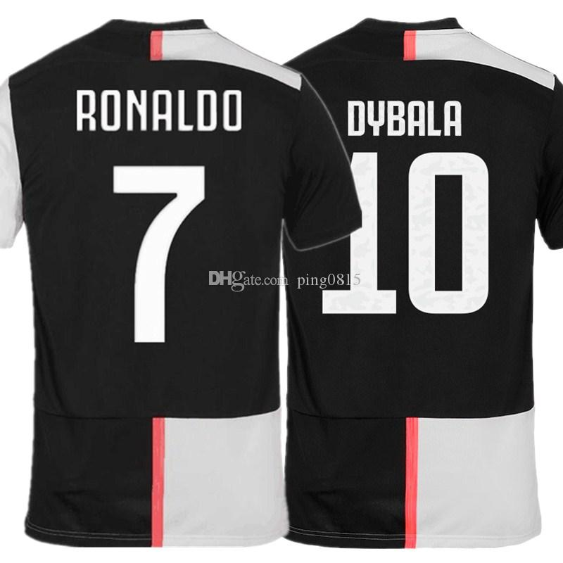 new style eec81 aec7b Best quality RONALDO DYBALA 19 20 soccer jersey juventus football shirt  MANDZUKIC CHIELLINI Camiseta de fútbol 2019 2020 football uniforms
