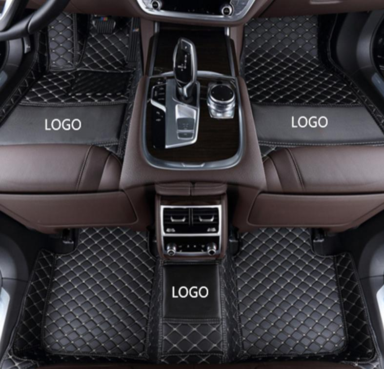 Mercedes-Benz GLK 2008-2017 car anti-slip mat luxury surrounded by waterproof leather wear-resistant car floor mat with logo