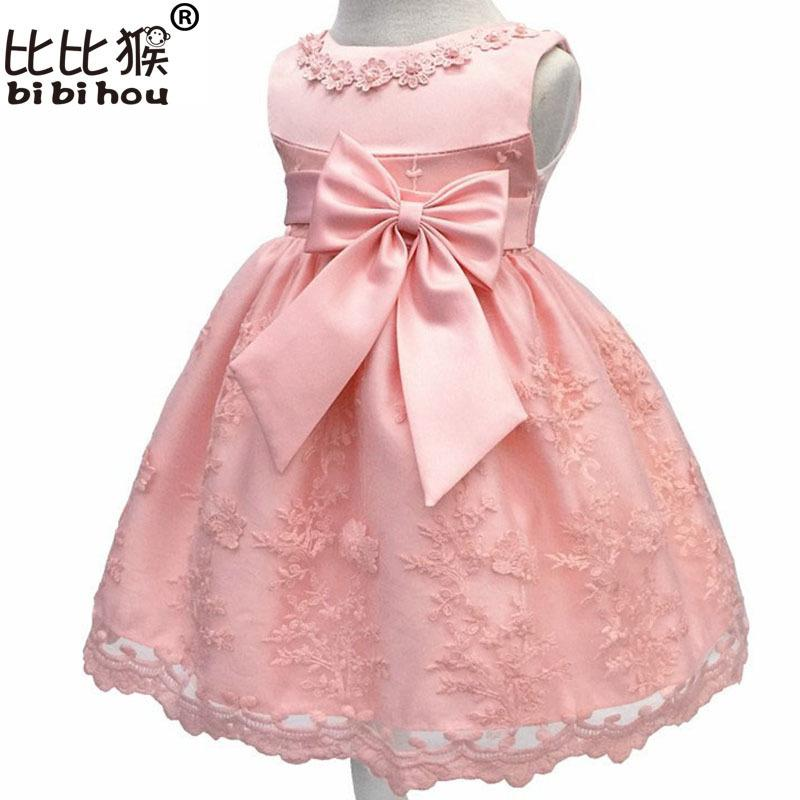 6109cd902c49c Baby Girls Dress For Girl Princess Party Dress Infant Christening Gown 1  Year Birthday Dress Christmas Carnival Costume For Kids Y190516