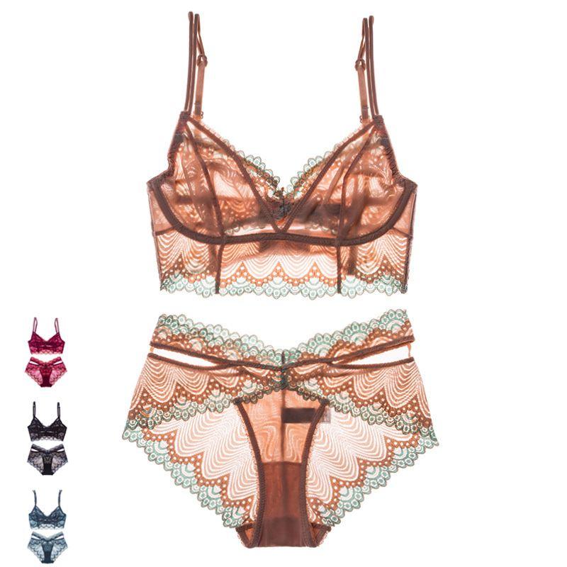3dd51ba974 Wholesale Sexy Floral Lace Cami Lingerie Set 2018 New Burgundy Women ...