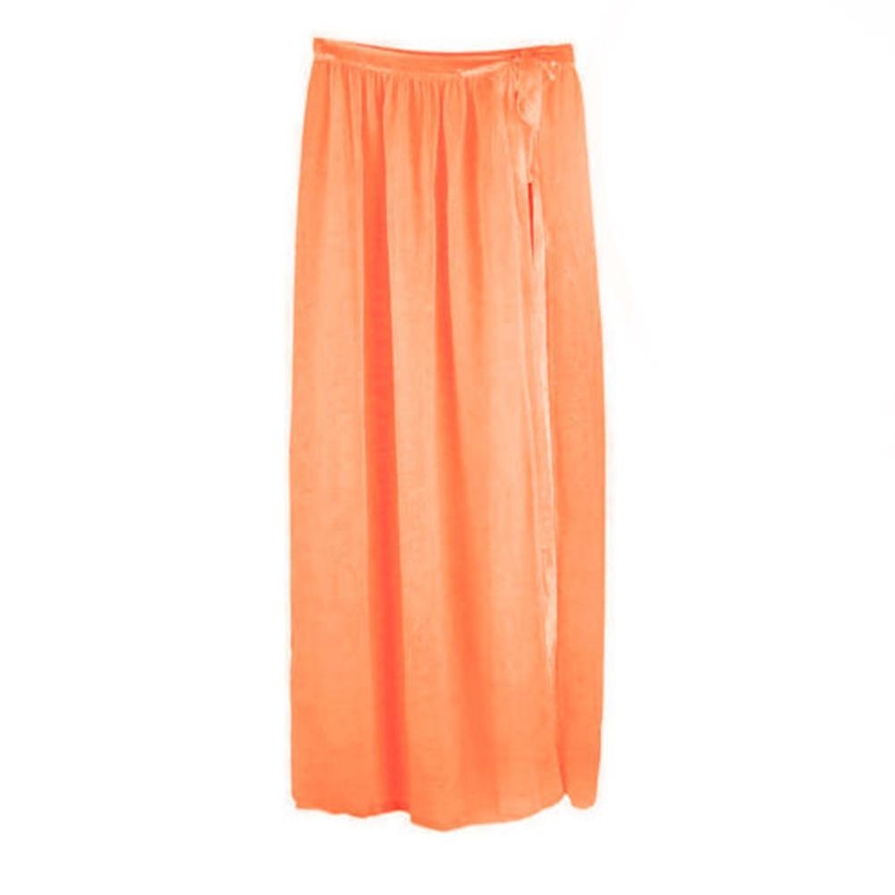 0f8c53f01 Nuevas mujeres del verano Sexy gasa Bikini Cover Up Side Slit Falda traje  de baño Playa Maxi Wrap falda Sarong