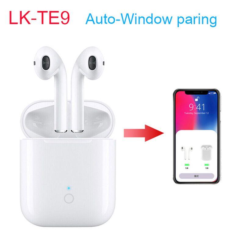 e756a370d23 Auricular Manos Libres LK TE9 TWS Auriculares Inalámbricos Bluetooth 1: 1 Airpods  Auriculares Táctiles Aparecen Automáticamente Auriculares Activar Siri ...