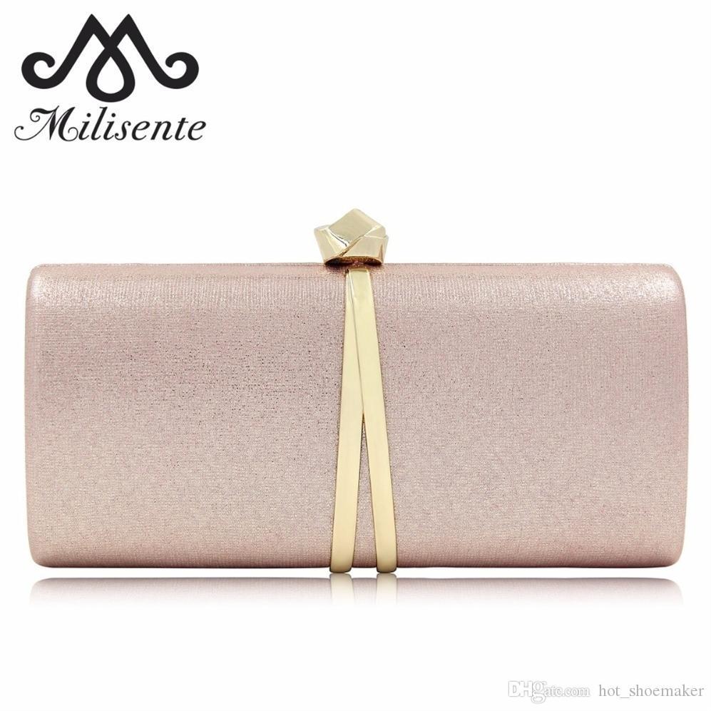 c276500f09dcc Großhandel Milisente Luxus Damen Abendtaschen Einfache Exquisite Haspe  Design Weibliche Clutch Mädchen Hochzeit Handtasche Feste Frauen  Umhängetasche ...
