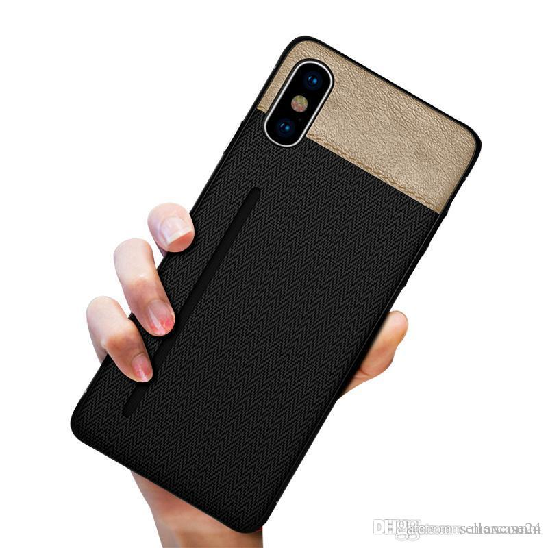 huge selection of a346e 1d07d New luxury fabric case for iphone XS MAX XR X 6S 7 8 plus cell phone case  credit card slots holder for Samsung Galaxy S8 S9 Plus Note 8 9