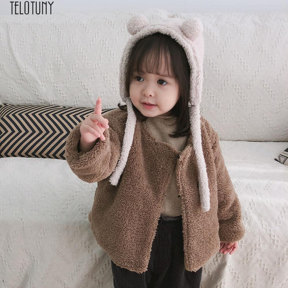 8187469fd TELOTUNY Baby Girl Winter Warm Fur Coat Toddler Kids Baby Girls ...