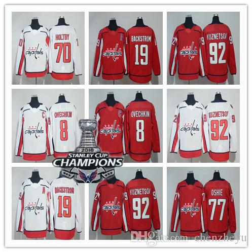 8b28f83e2 men's 2019 new Washington Capitals jersey 8 Alex Ovechkin 77 T.J. Oshie  Nicklas Backstrom Braden Holtby Wilson Kuznetsov Hockey Jerseys