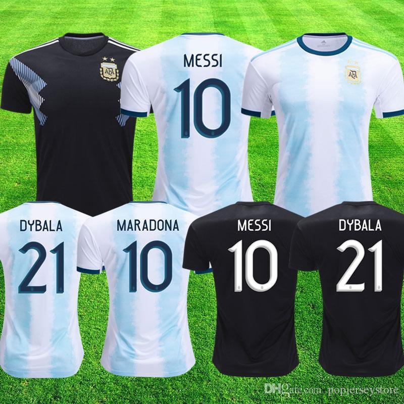 0421107b4f1f7 2019 2020 Argentina America America Home Soccer Jerseys MESSI DYBALA  HIGUAIN Camiseta De Fútbol AGUERO ICARDI MASCHERANO Camiseta De Futbol Por  ...