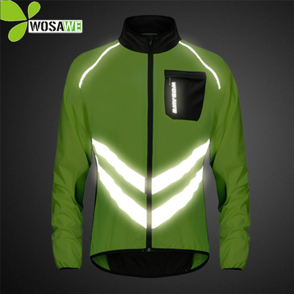 Cycling Wosawe Mtb Road Bike Reflective Jacket Light Weight Wateproof Cycling Jacket Windbreaker Jacket Safety Vest Bicycle Clothing Cycling Jackets