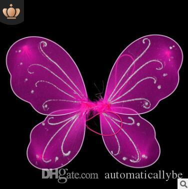Kids Girl Princess Fairy Butterfly Wings Halloween Fancy Dress Costume