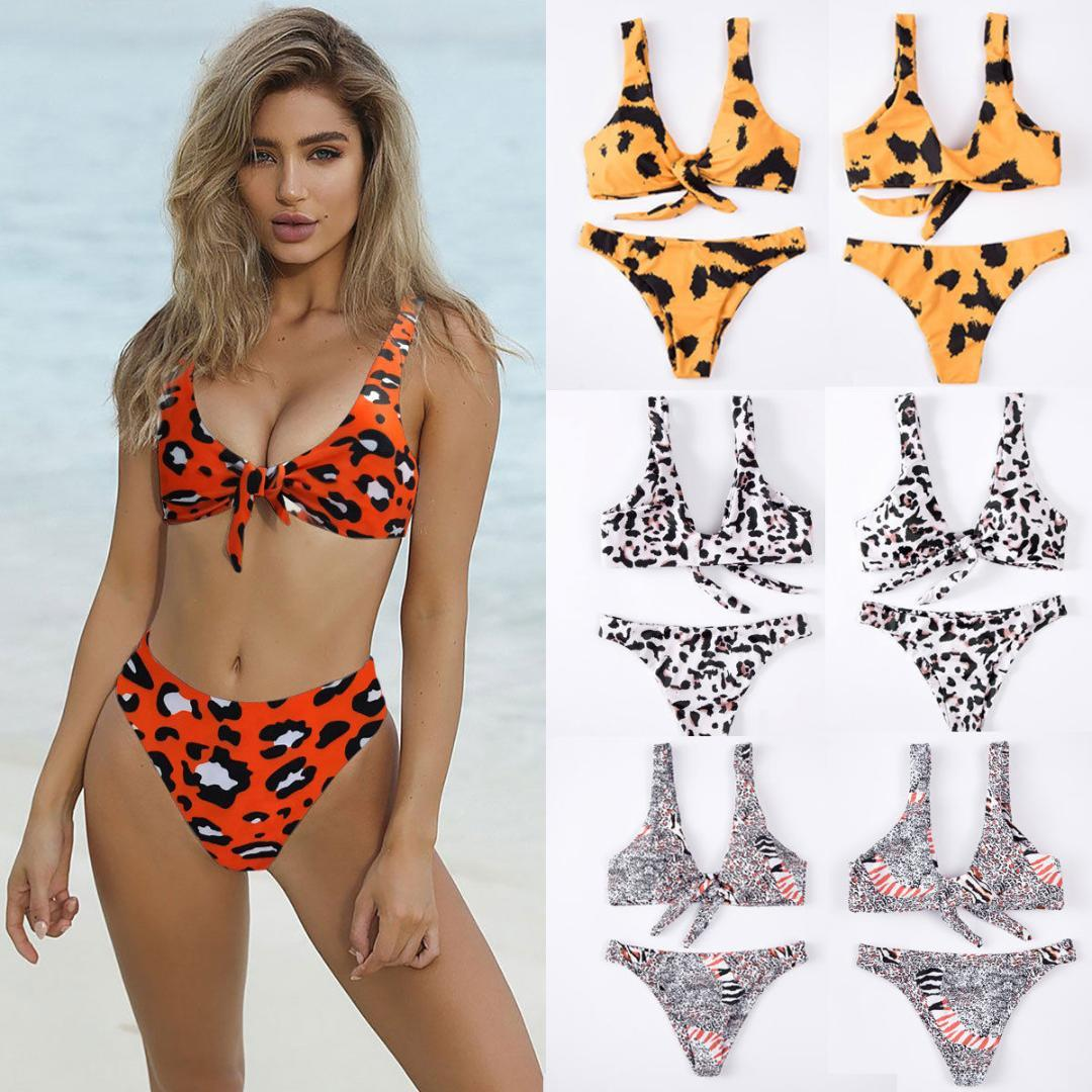 88d74b17d0667 2019 Sexy Women Padded Push Up Print Bikini Set High Waist Swimsuit ...