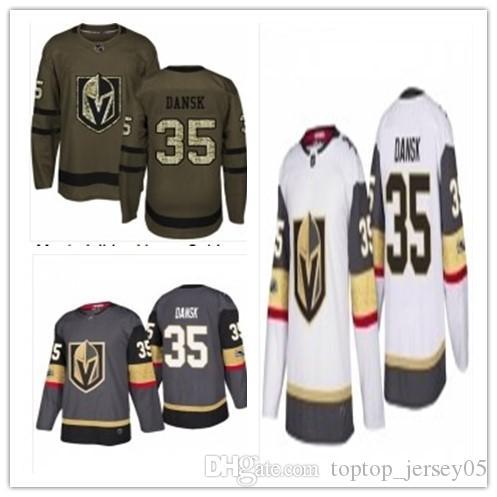 9a5ee4429 2019 2018 Vegas Golden Knights Jerseys  35 Oscar Dansk Jerseys Men WOMEN  YOUTH Men S Baseball Jersey Majestic Stitched Professional Sportswear From  ...