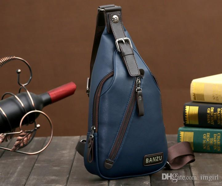 cf05315eadcb Wholetide-brand Quality Assurance Men Chest Pack Outdoor Sport Leather  Business Handbags Man Messenger Single Shoulder Crossbody Bags