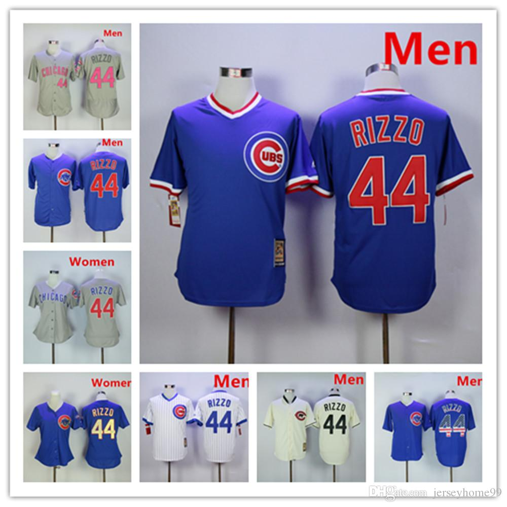 best service e7b79 8b588 Chicago #44 Anthony Rizzo Jersey Men's Women Youth Cubs White 1988 Turn  Back The Clock Blue Grey Mother's Day Gold Program Baseball Jerseys