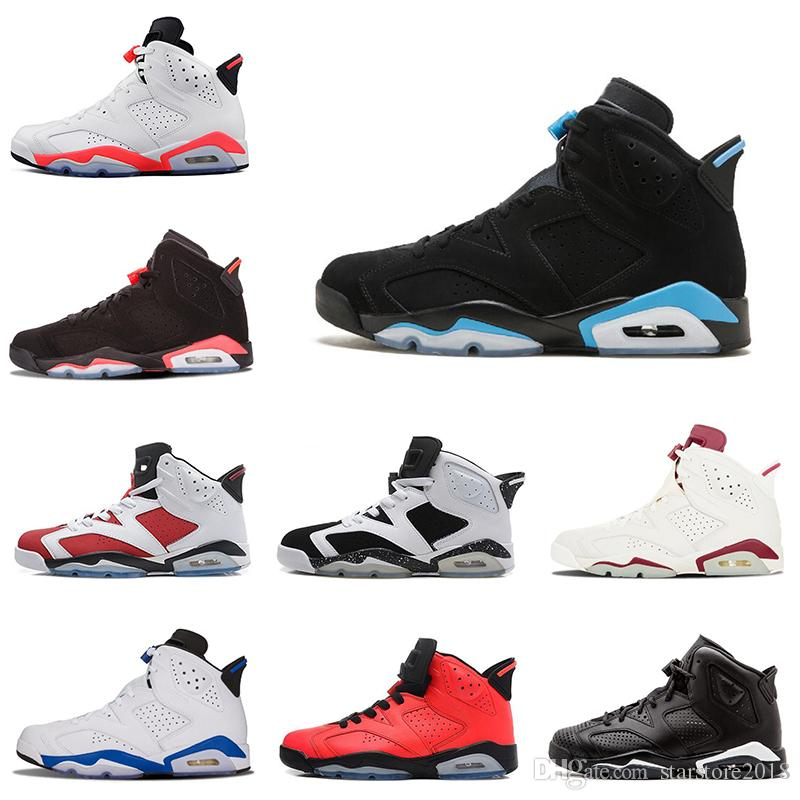 1a45cb0ae5fc Nike Air Jordan 6 6s 2019 6 6s Toro Alterno Angry Black Cat Carmine Zapatos  De Baloncesto Para Hombre Oreo High White Infared Sport Blue UNC Sneakers  Tamaño ...