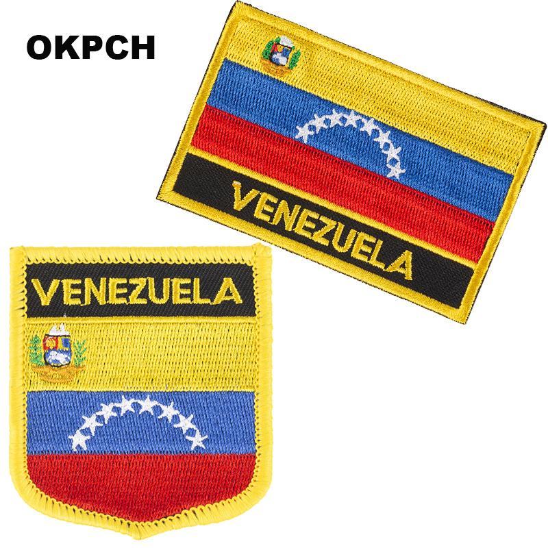Venezuela Bordado Hierro En Parches De Bandera Parche De Bandera Nacional Para Ropa Diy Decoración Pt0183 2