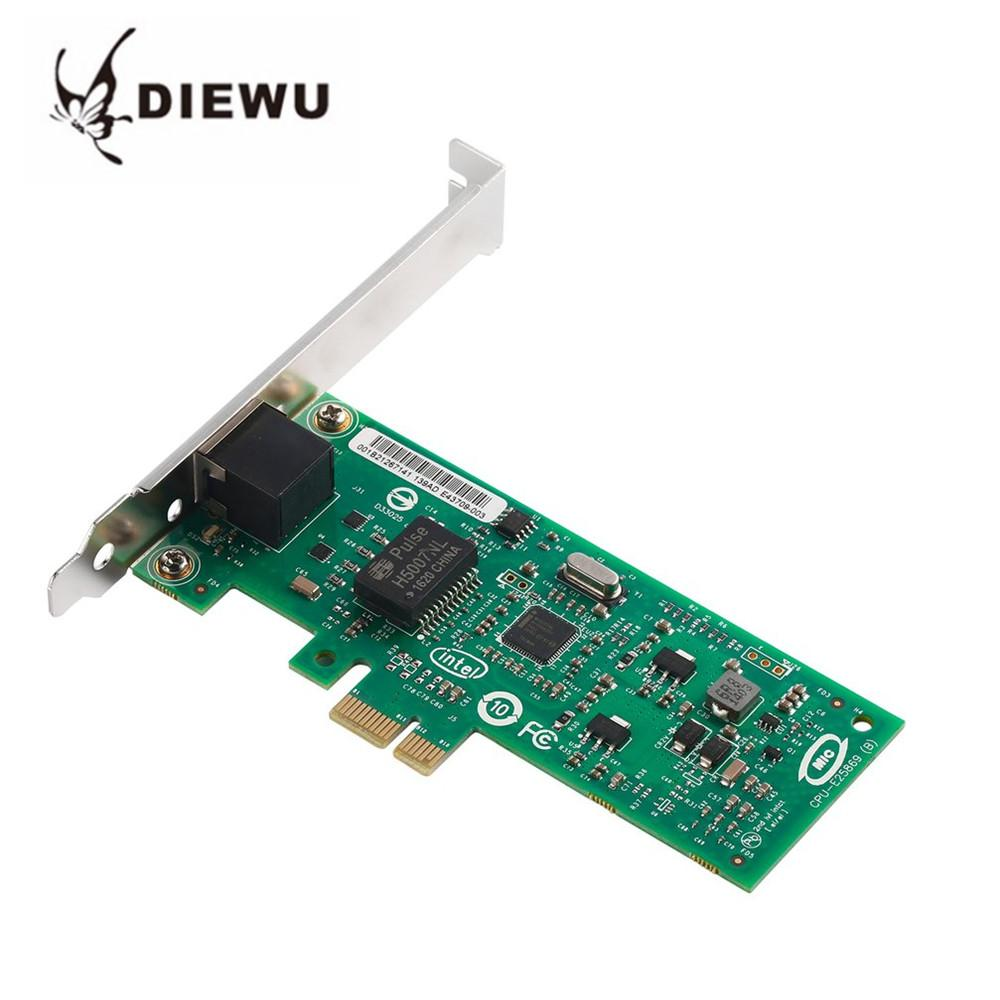 DIEWU 82574L Gigabit Ethernet Network Card PCI-E RJ45 LAN Adapter 1000Mbps  Diskless Boot With Lightning Protective For Intel