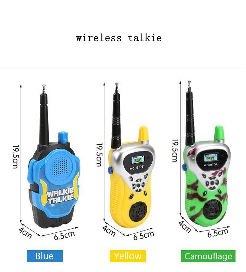 Kids Walkie Talkie Toys Dress up Toys for boys and girls used at home park and outside gifts for children MMA2053
