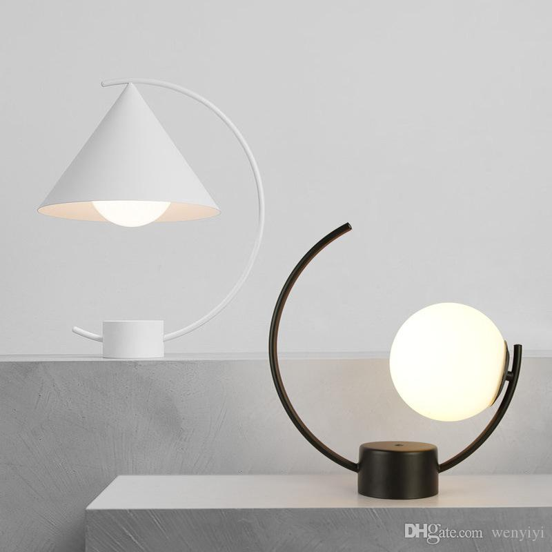 Desk Lamps Lights & Lighting Modern Creative Concise Glass Table Light Retro Bedroom Bedsidelivingroom Study Office Decoration Lamp Free Shipping