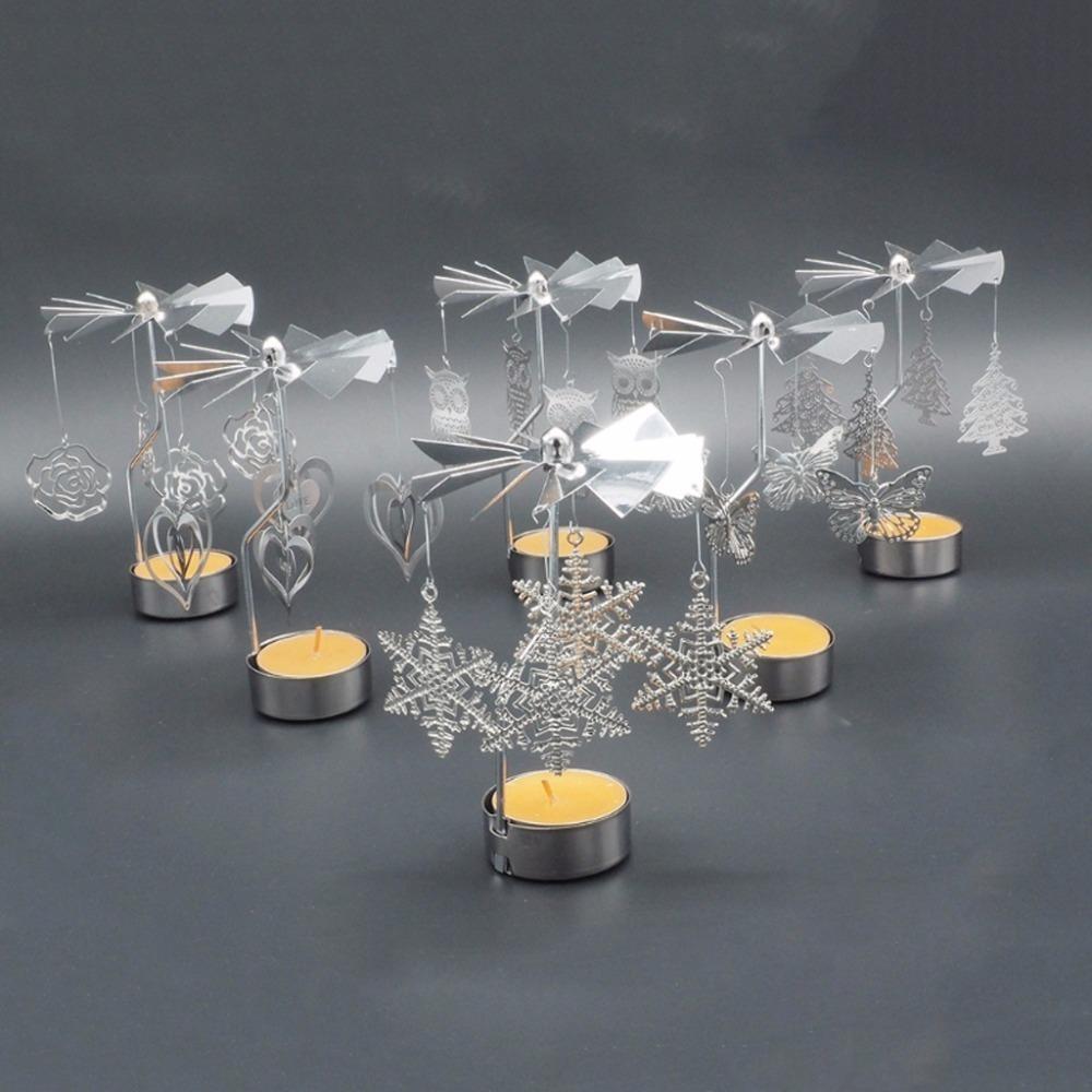Großhandel Romantische Dreh Spinning Kerzenständer Teelicht