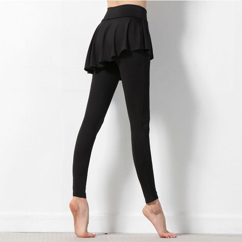 63b80318e 2019 JIGERJOGER 2017 Very New Plus Size XL Skorts Pants Skirted Leggings  Black Gym Running Dance Fitness Tights Nylon Polyamide Pants  73702 From ...