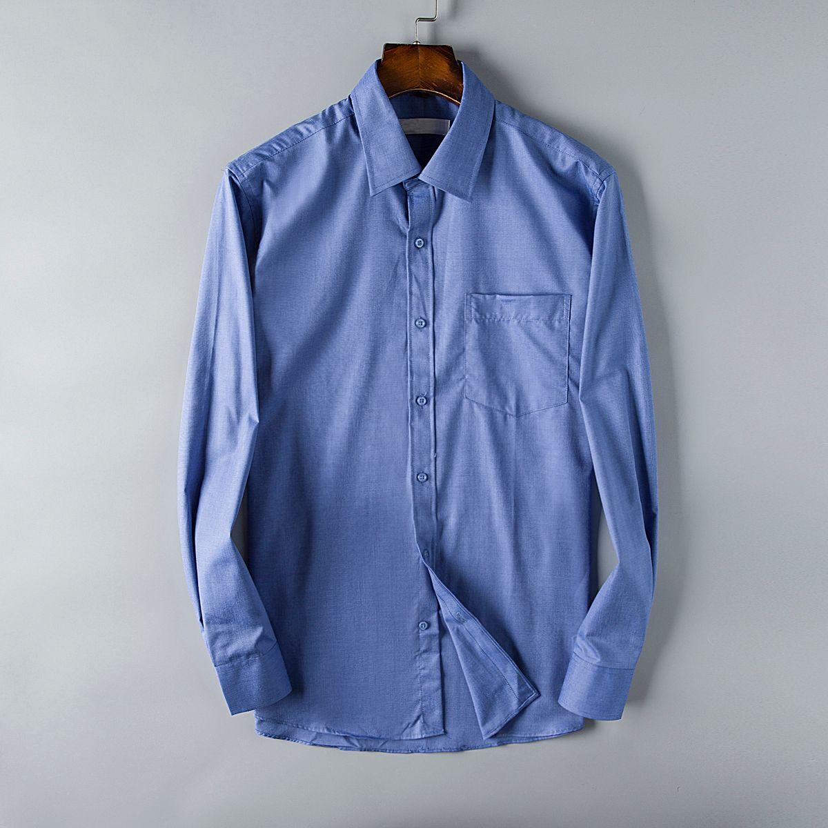 Fashion Brand Mens Shirts Paris Business Shirt Long Sleeve Designer