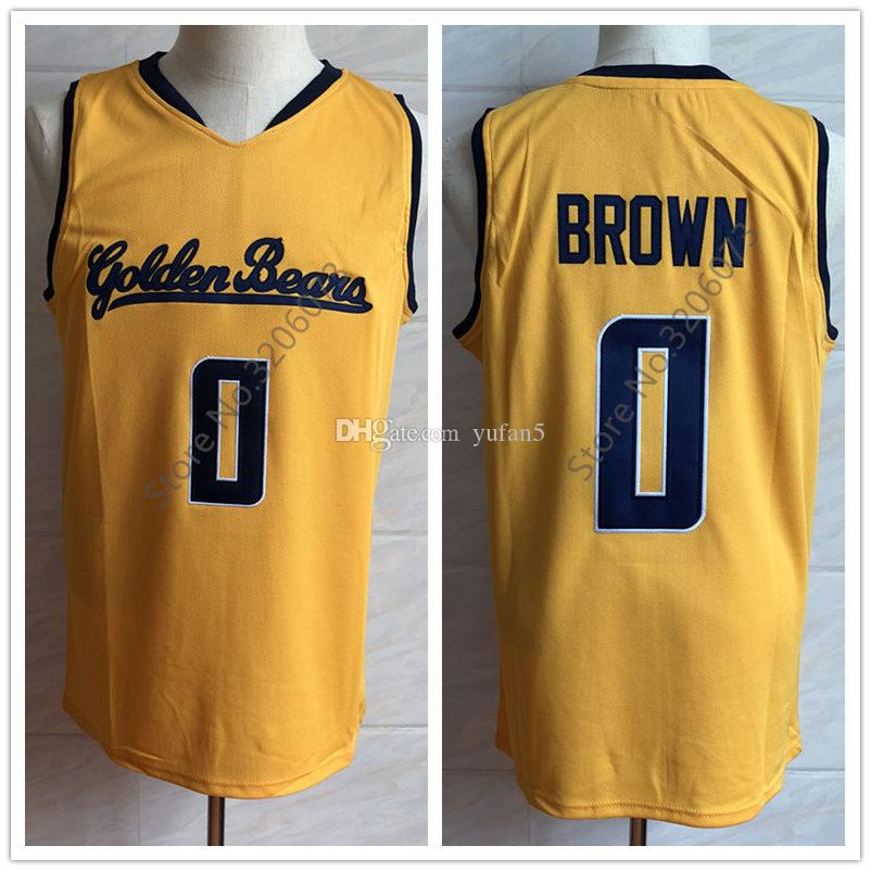 the latest c9d2e 1ae73 #0 Jaylen Brown Cal California Golden Bears Yellow College Retro Basketball  Jersey Mens Stitched Custom Number and name Jerseys
