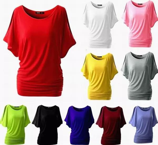 16bcb05a028bf T Shirt Womens Off Shoulder Loose Shirt Fashion Ladies Summer Casual ...
