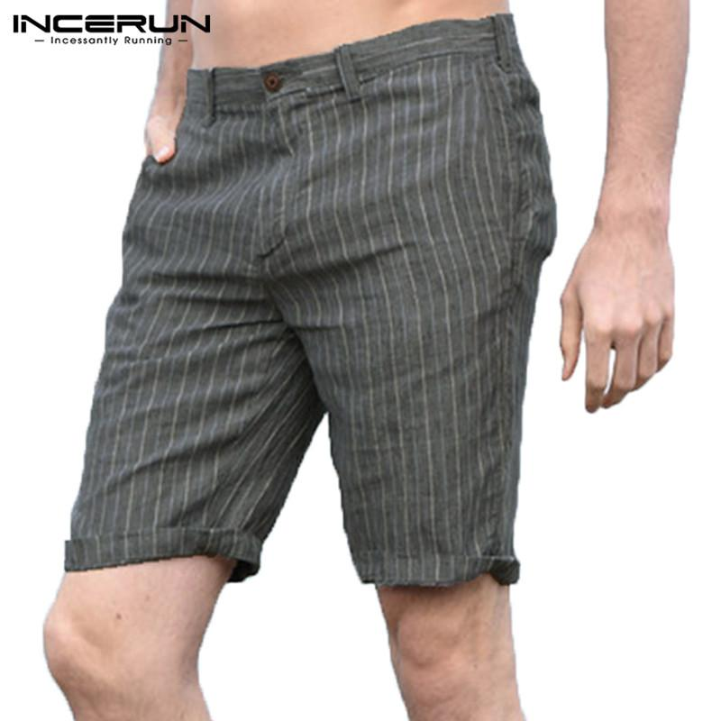 5xl Casuales Fit Verano Bermudas Pantalones Streetwear Algodón Transpirable Hombre De 2019 Cortos Hombres A Rayas Slim Ocio EIYWDH29