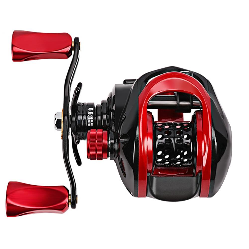 9 1 Ball Bearings 6 6:1 Left / Right Hand Fishing Baitcasting Reel Dual  Brake System Reel 4kg Max Drag High Speed Fishing Reel